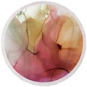 Abstract Summer Nectar Round Beach Towel