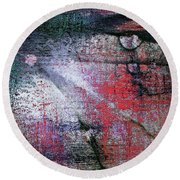 Abstract ..tracks Round Beach Towel