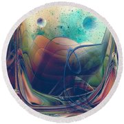 Turbulence Round Beach Towel