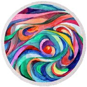 Abstract Underwater World Round Beach Towel