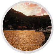 Abstractions Of Coral Bay Round Beach Towel