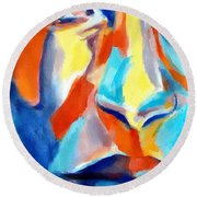 Acceptance Of The Self Round Beach Towel
