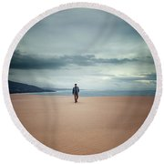 Across The Sands Of Time Round Beach Towel