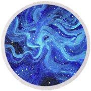 Acrylic Galaxy Painting Round Beach Towel