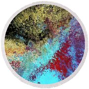 Round Beach Towel featuring the painting Acts 1 8. Receive Power by Mark Lawrence