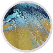 Round Beach Towel featuring the painting Acts 22 16. Why Are You Waiting by Mark Lawrence