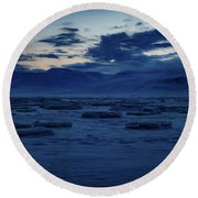 Adventfjorden  Round Beach Towel