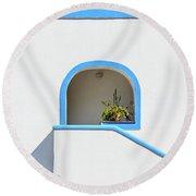 Aeolian Geometry Round Beach Towel