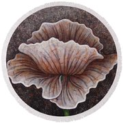 Round Beach Towel featuring the painting After Dark by Amy E Fraser