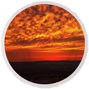 Round Beach Towel featuring the photograph Afterglow 02 by Rob Graham