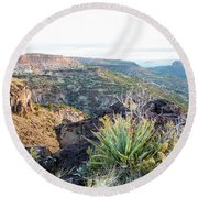 Agave Sunrise Round Beach Towel