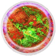 Agony And Ecstasy Round Beach Towel
