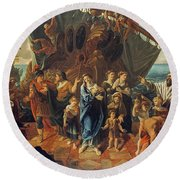 Agrippina Landing At Brundisium With The Ashes Of Germanicus, 1781 Round Beach Towel