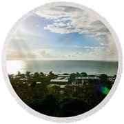Aguada Sunset Round Beach Towel