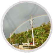 Aguadilla Rainbow Round Beach Towel
