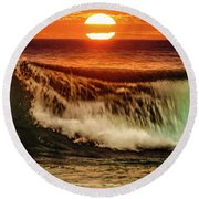 Ahh.. The Sunset Wave Round Beach Towel