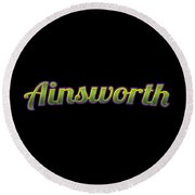 Ainsworth #ainsworth Round Beach Towel