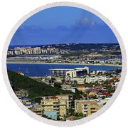 Round Beach Towel featuring the photograph Airport by Tony Murtagh