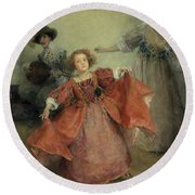 Airs And Graces Round Beach Towel
