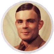 Alan Turing, Genius Round Beach Towel