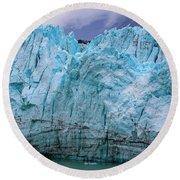 Alaskan Blue Glacier Ice Round Beach Towel