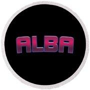 Alba Round Beach Towel