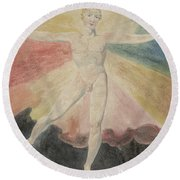 Albion Rose Or The Dance Of Albion Round Beach Towel