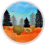 Alcohol Ink - 1 Round Beach Towel