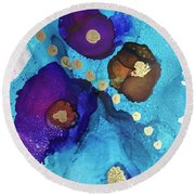 Alcohol Ink - 15 Round Beach Towel