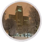 Alfred E. Smith Building Round Beach Towel