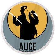 Alice Cooper II Round Beach Towel