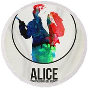 Alice Cooper Round Beach Towel