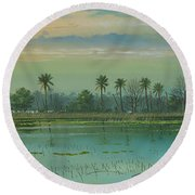 Alligator Alley Round Beach Towel
