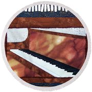 All That Jazz Piano Round Beach Towel