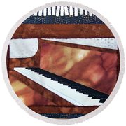 All That Jazz Piano Round Beach Towel