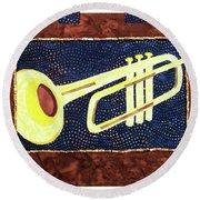 All That Jazz Trumpet Round Beach Towel