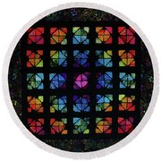 All The Colors Round Beach Towel