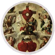 Allegory Of The Holy Eucharist Round Beach Towel