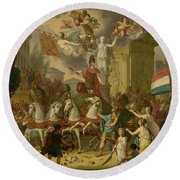 Allegory Of The Triumphal Procession Of The Prince Of Orange Round Beach Towel