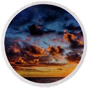 Almost A Painting Round Beach Towel