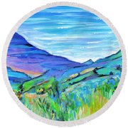 Along The Blue Basin Scenic Highway Round Beach Towel