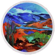 Along The Trail - Arizona Round Beach Towel