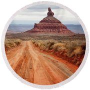 Round Beach Towel featuring the photograph Along The Valley Floor by Nicholas Blackwell