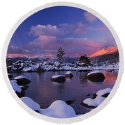 Alpenglow Visions Round Beach Towel