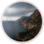 Round Beach Towel featuring the photograph Amalfi Coast, Italy by Tim Bryan