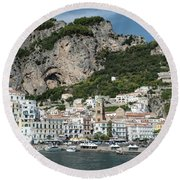 Amalfi Port Round Beach Towel