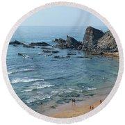 Amalia Beach From Cliffs Round Beach Towel