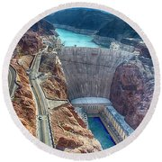 Amazing Hoover Dam Round Beach Towel