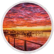 Amazing Sunrise Round Beach Towel