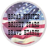 Round Beach Towel featuring the photograph American Quote by Jamart Photography